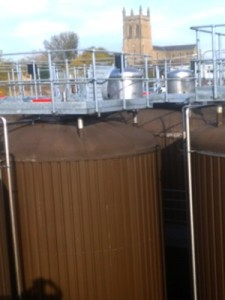 90,000 ltr fermentation vessels located at the Thwaites site